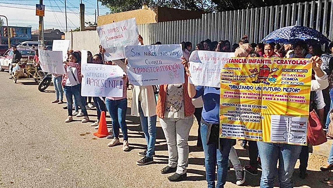 Recorte a estancias infantiles amenaza a 228 planteles y 8 mil 600 menores (Oaxaca)