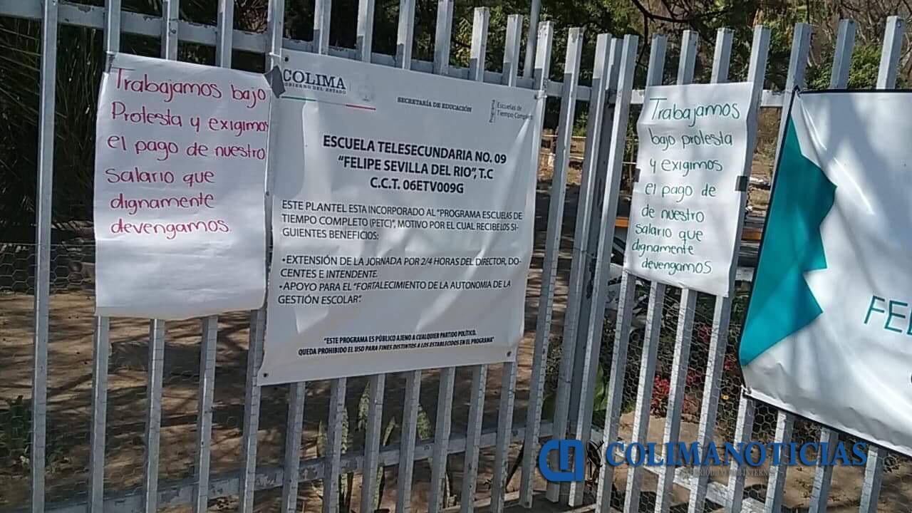 Maestros de EMSAD y TBC comienzan a trabajar bajo protesta por falta de recursos de la federación
