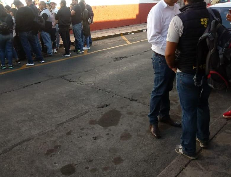 Telebachillerato Comunitario protesta en el Centro de Morelia