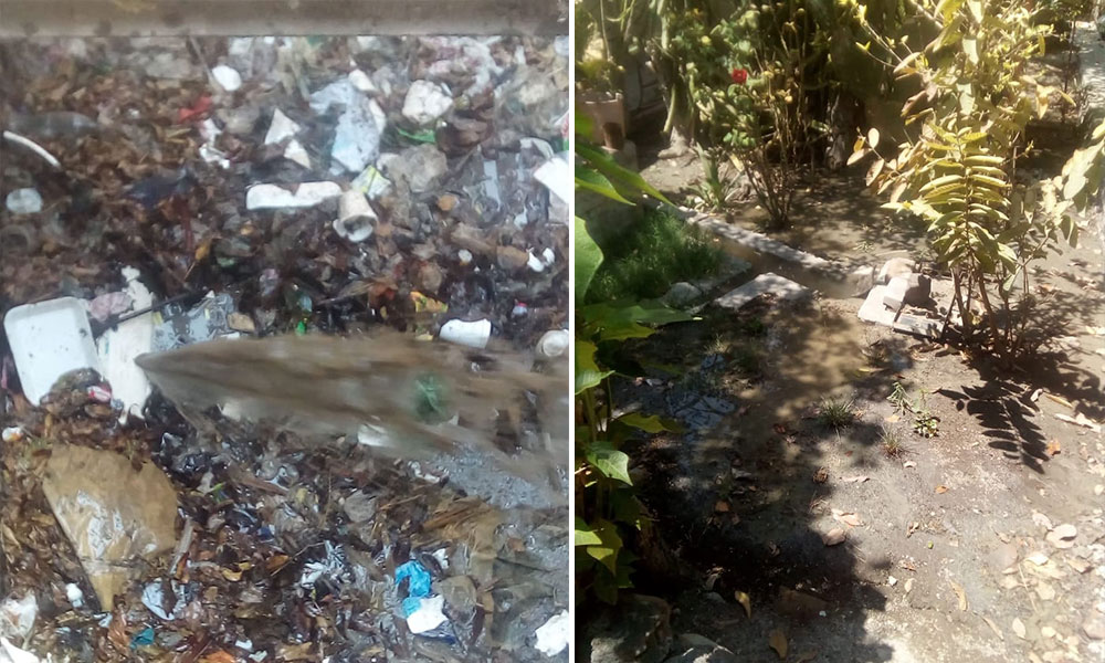 Genera contaminación drenaje colapsado en Miahuatlán (Puebla)