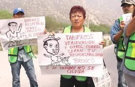 Exigen a 'Bronco' solución tras desalojo (Nuevo León)