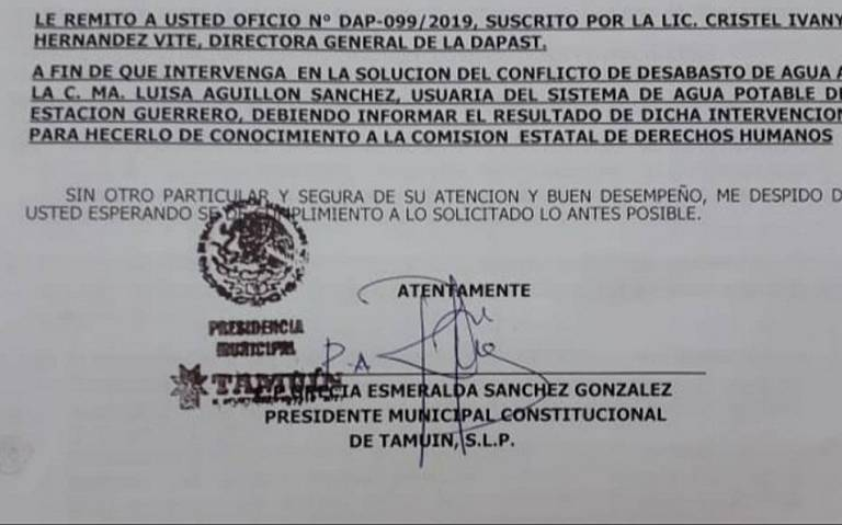 Habitantes de Tamuín, en graves problemas por falta de agua (San Luis Potosí)