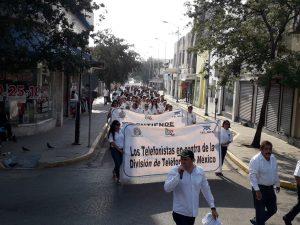 Los sindicalistas 'incómodos' arman desfile del Día del Trabajo en la calle Hidalgo (Tamaulipas)