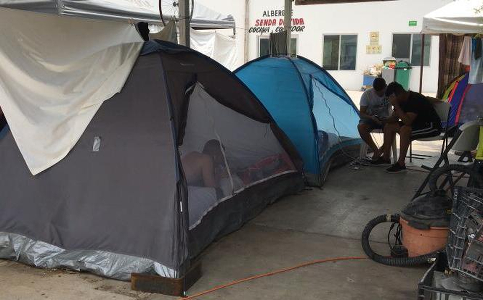 Saturado albergue de migrantes en Reynosa (Tamaulipas)