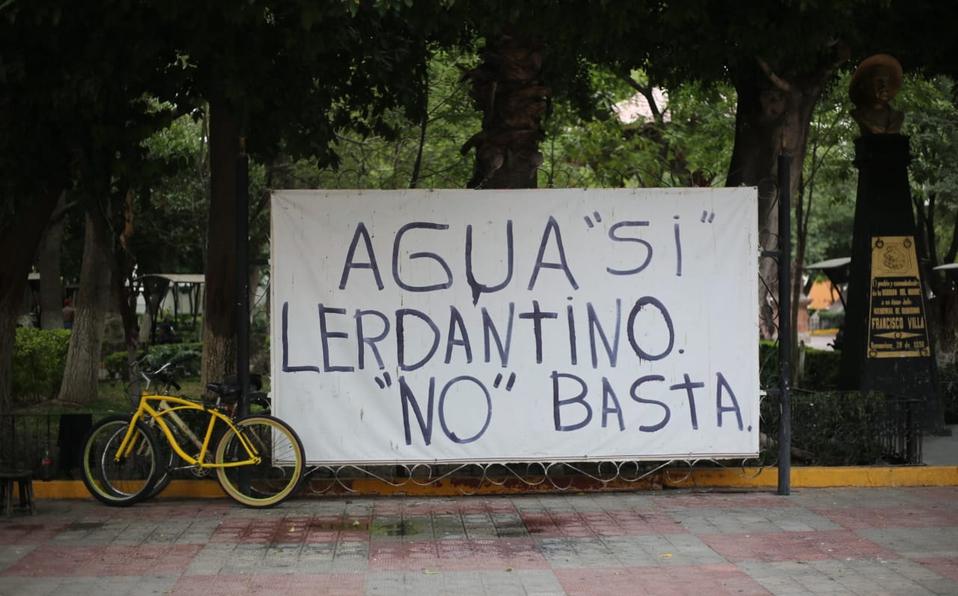 Agua sí, Lerdantino no (Durango)
