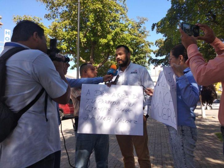 Periodistas claman justicia para Javier Valdez (Sinaloa)