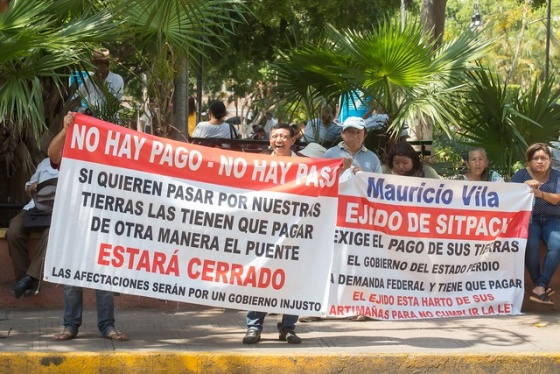 Ejidatarios de Sitpach exigen pago de tierra del distribuidor vial Chichí Suárez (Yucatán)