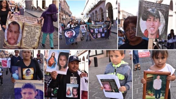 Madres de desaparecidos marcharon en el Centro Histórico de Zacatecas