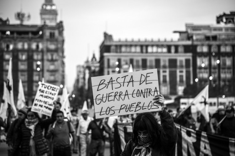 Jornadas por la vida y contra la guerra: alto a la violencia y a la militarización del territorio zapatista