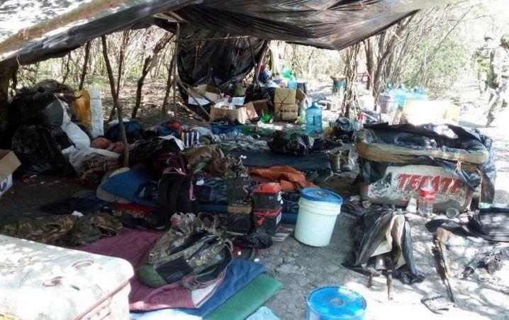 Hallan restos humanos en narcocampamento; Tamaulipas