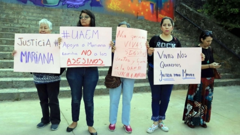 Protestan por feminicidio de Mariana; los detenidos son estudiantes (Morelos)