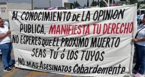 Exigen justicia y seguridad tras asesinato de dos hermanos en El Seco, Puebla