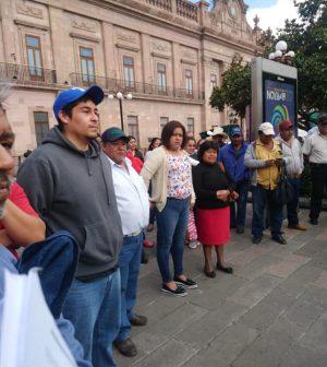 Se manifiestan frente al Congreso del Estado personas en riesgo de ser despojadas de su patrimonio (San Luis Potosí)