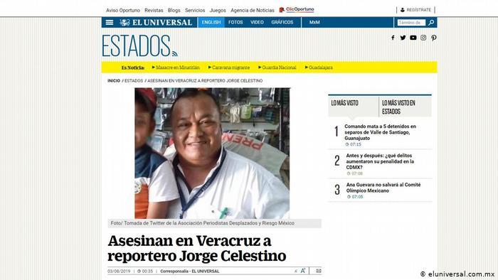 Asesinan a tres periodistas en México en menos de una semana