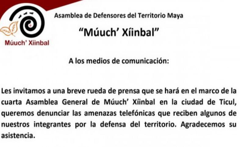 Denuncian activistas mayas amenaza de cártel del narcotráfico en Valladolid (Yucatán)