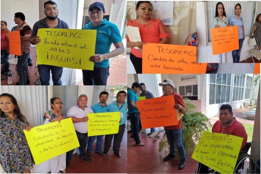 Sindicalizados de Tecoman exigen pago de bonos (Colima)