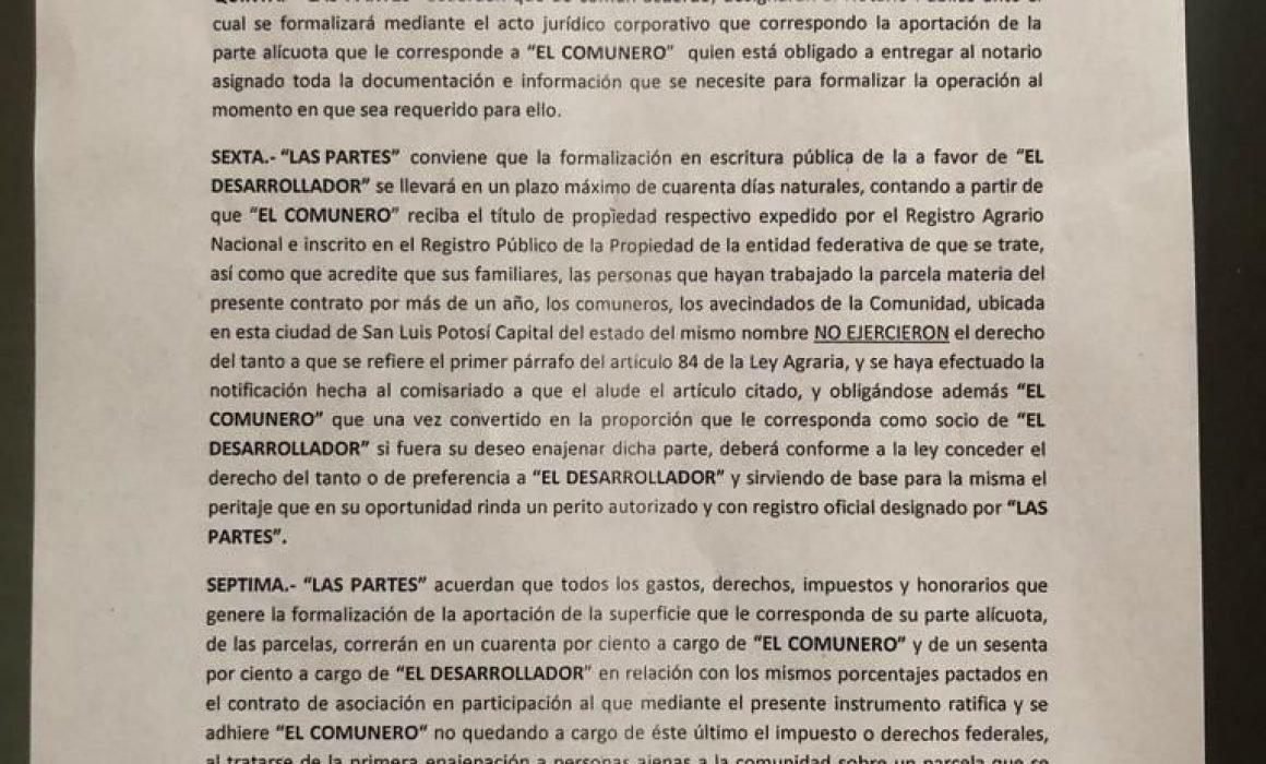 Filtran presunto contrato que el Chato López impondría a comuneros (San Luis Potosí)