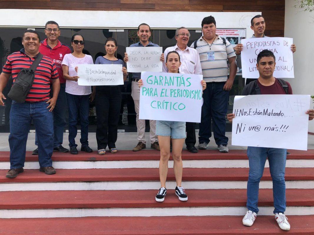 Se unen periodistas colimenses al repudio por agresiones y asesinatos en su contra (Colima)