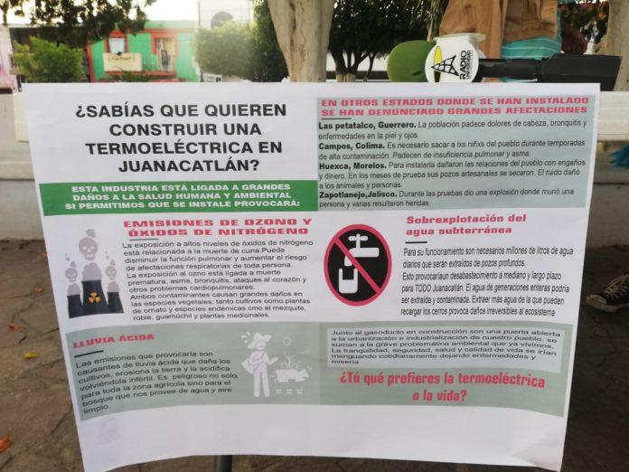 Población de Juanacatlán se opone a gasoducto y termoeléctrica (Jalisco)