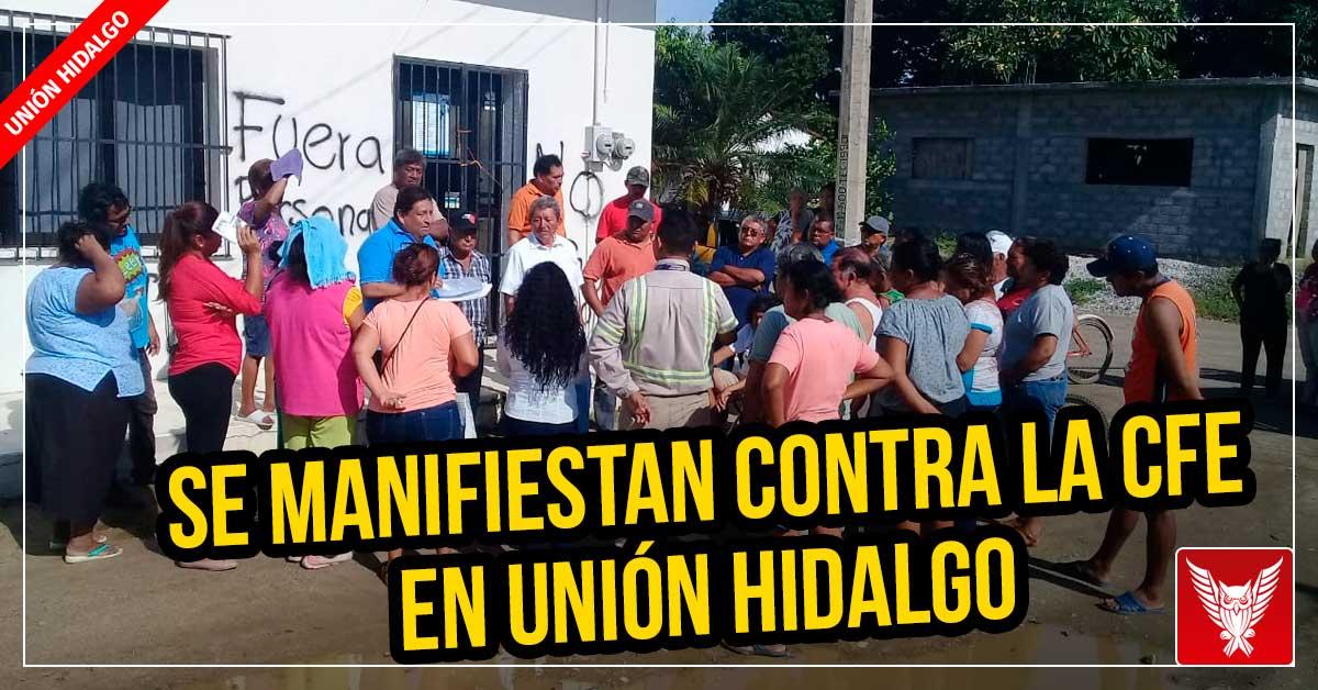 Se manifiestan contra la CFE en Unión Hidalgo (Oaxaca)