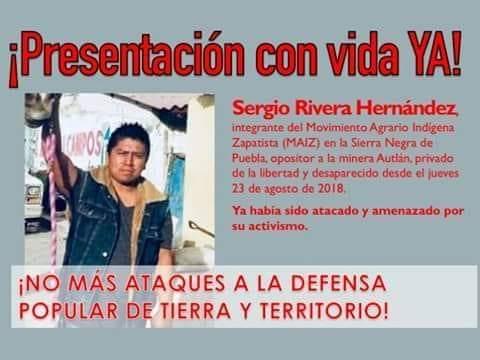 Exigen investigar desaparición de activista de Tehuacán (Puebla)