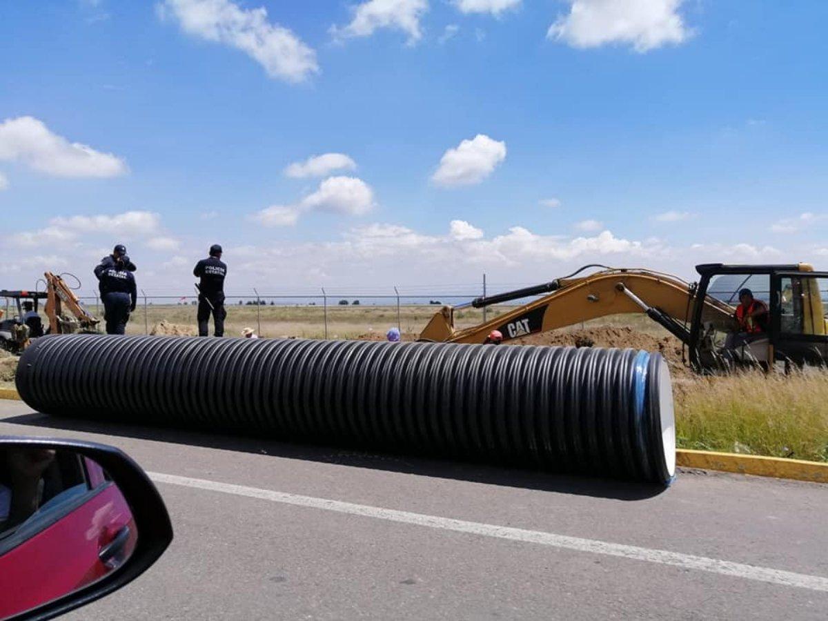 Pobladores denuncian obras para industrializar tierras cercanas al volcán Popocatépetl (Puebla)