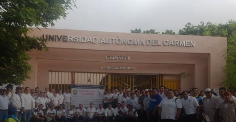 Trabajadores de UNACAR se suman a paro nacional convocado por Conatu (Campeche)