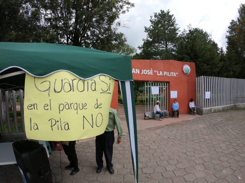 Protestan en Metepec por donación de predio a la Guardia Nacional (Estado de México)