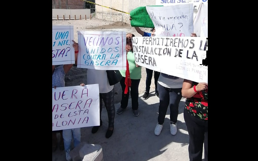 Protestan contra gasera por considerarla peligrosa en Tehuacán (Puebla)