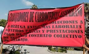 Empleados de empresa de carrocerías protestan por falta de pago en Tezoyuca (Estado de México)