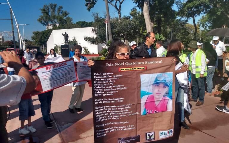Se manifiestan familiares de personas desaparecidas (Jalisco)