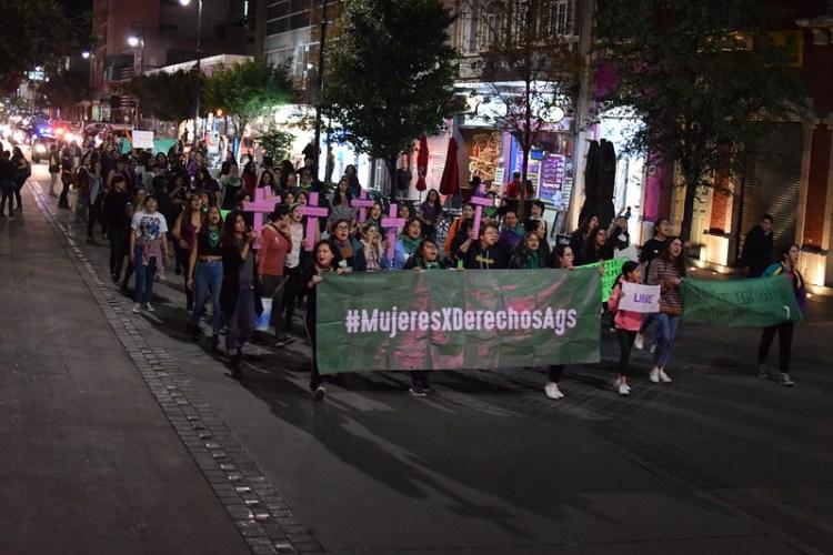 EXIGE COMUNIDAD FEMINISTA UN AGUASCALIENTES LIBRE Y SEGURO