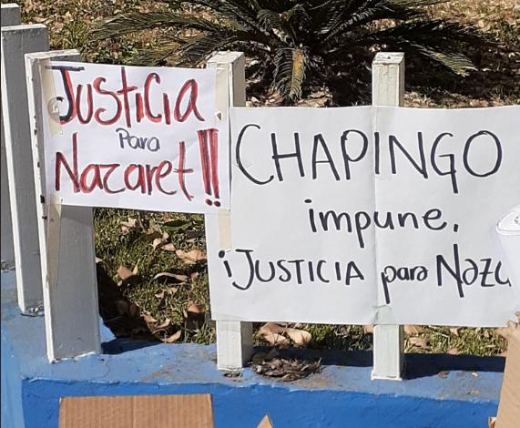 """Queremos vivir sin miedo"""": protestan por feminicidio de Nazaret, estudiante de Chapingo (Estado de México)"""