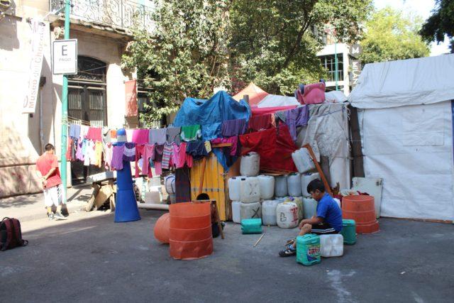 Temen desalojo contra comunidad otomí en la Ciudad de México