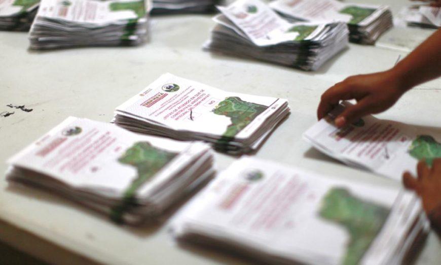 """La """"exitosa"""" consulta del Tren Maya en la que votó el 2.86% del padrón electoral de la zona"""