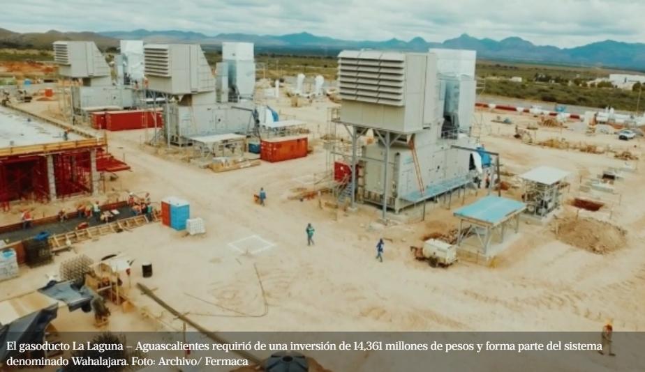 Inicia operaciones el gasoducto de La Laguna-Aguascalientes con una inversión de más de 14 mdp
