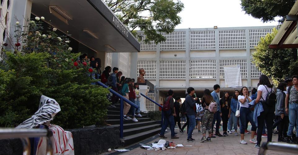 Alumnos de Prepa 7 mantienen paro y exigen trato directo con Rectoría de la UNAM (Ciudad de México)
