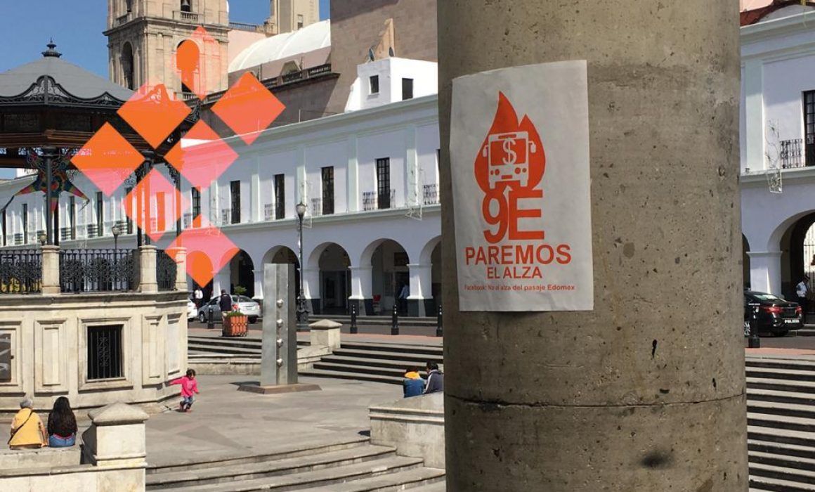 Tapizan Toluca con volantes que piden resistencia al aumento de pasaje (Estado de México)