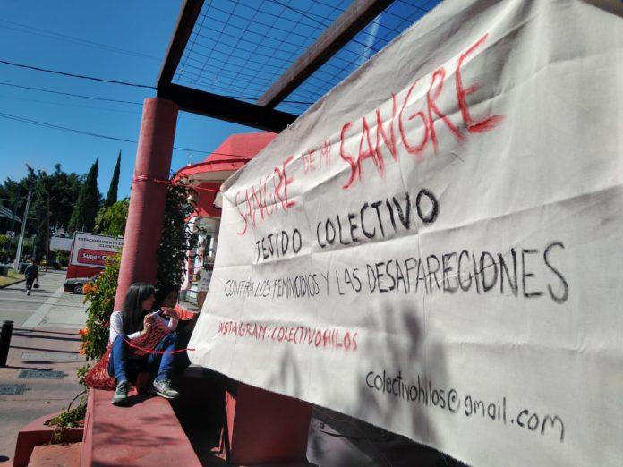 Tejen para visibilizar feminicidios y desapariciones en Jalisco