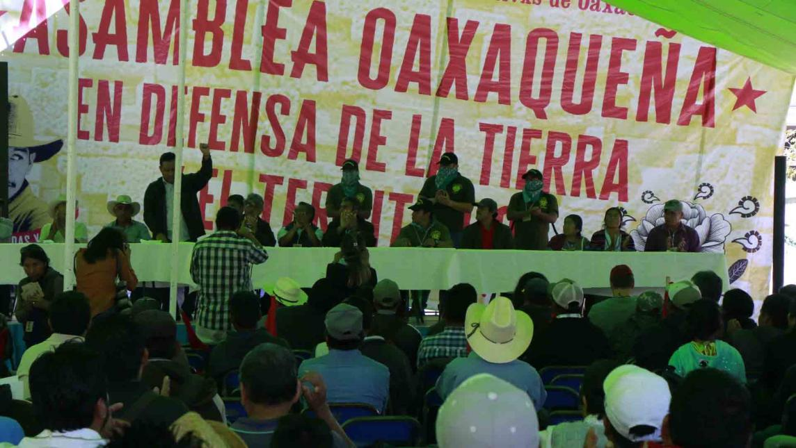 Se unen comunidades en defensa de la tierra (Oaxaca)