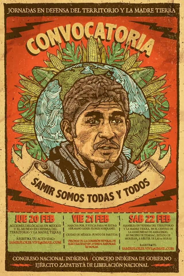 """Jornadas en Defensa del Territorio y la Madre Tierra """"SAMIR SOMOS TODAS Y TODOS"""""""