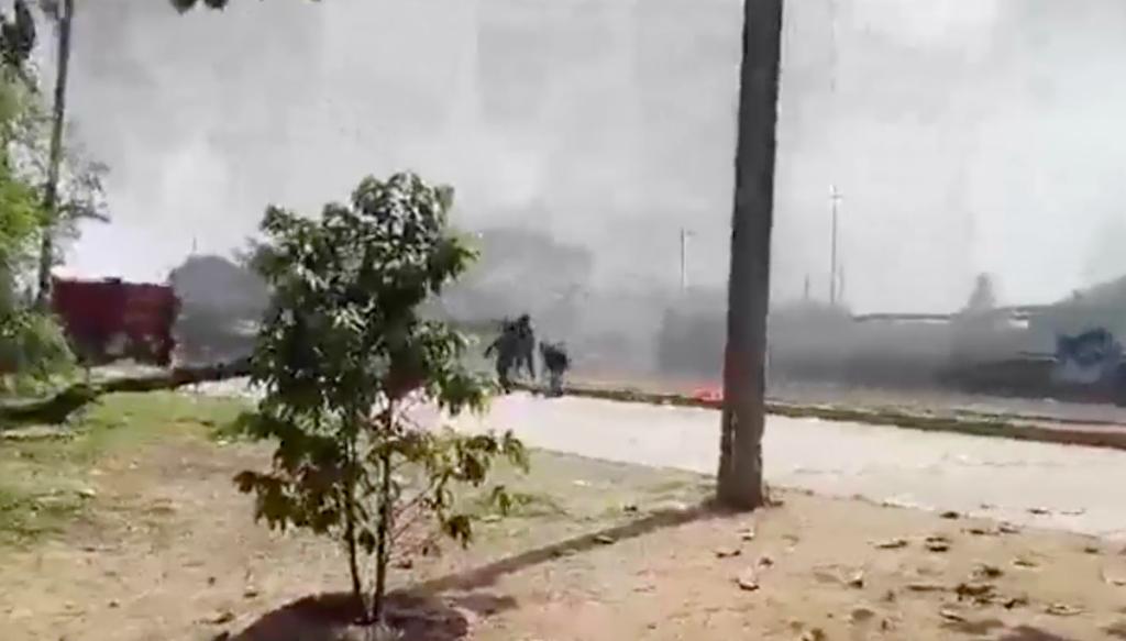 Policías hieren a manifestantes en Ciudad Isla, Veracruz