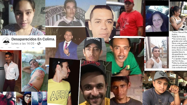 Aumenta la cantidad de personas desaparecidas en Colima