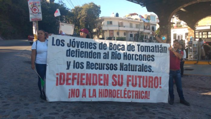 Protestan contra construcción de hidroeléctrica en río Los Horcones de Puerto Vallarta (Jalisco)