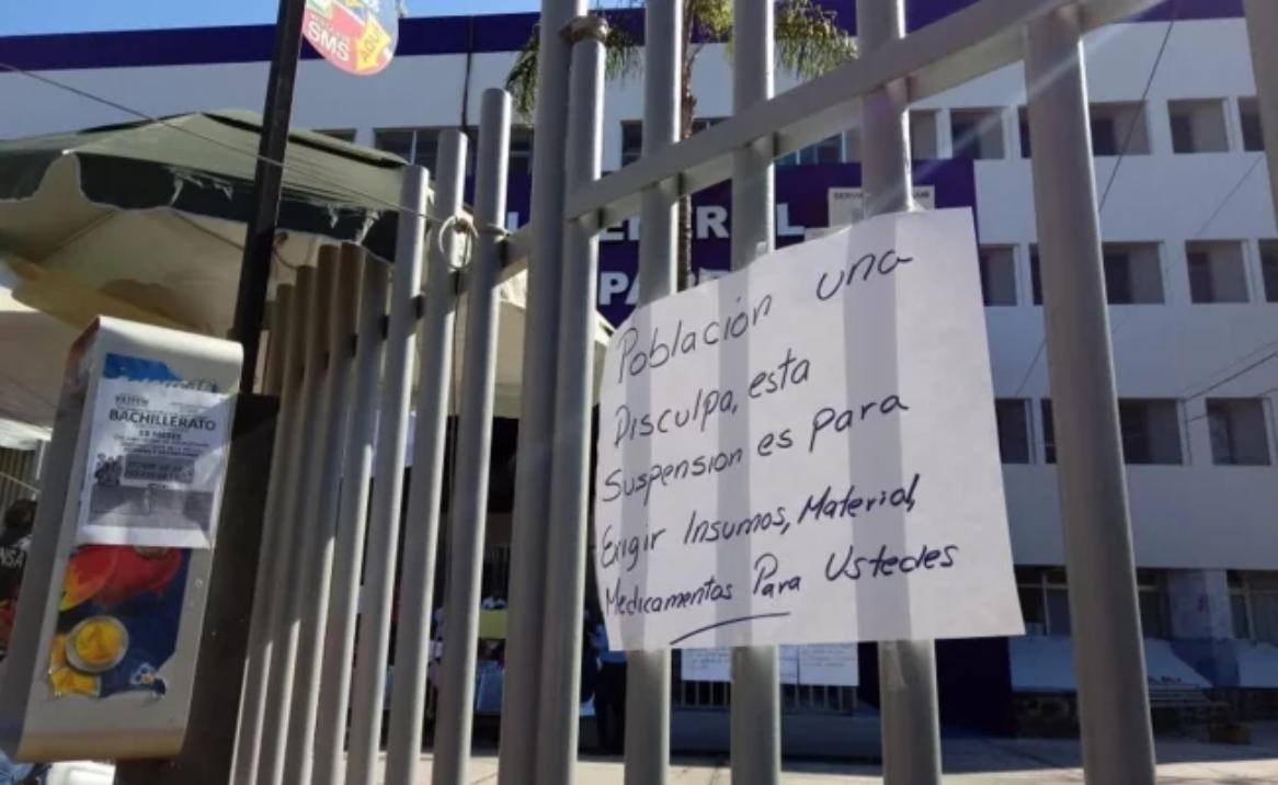 Trabajadores de Salud realizan paro de labores en Morelos