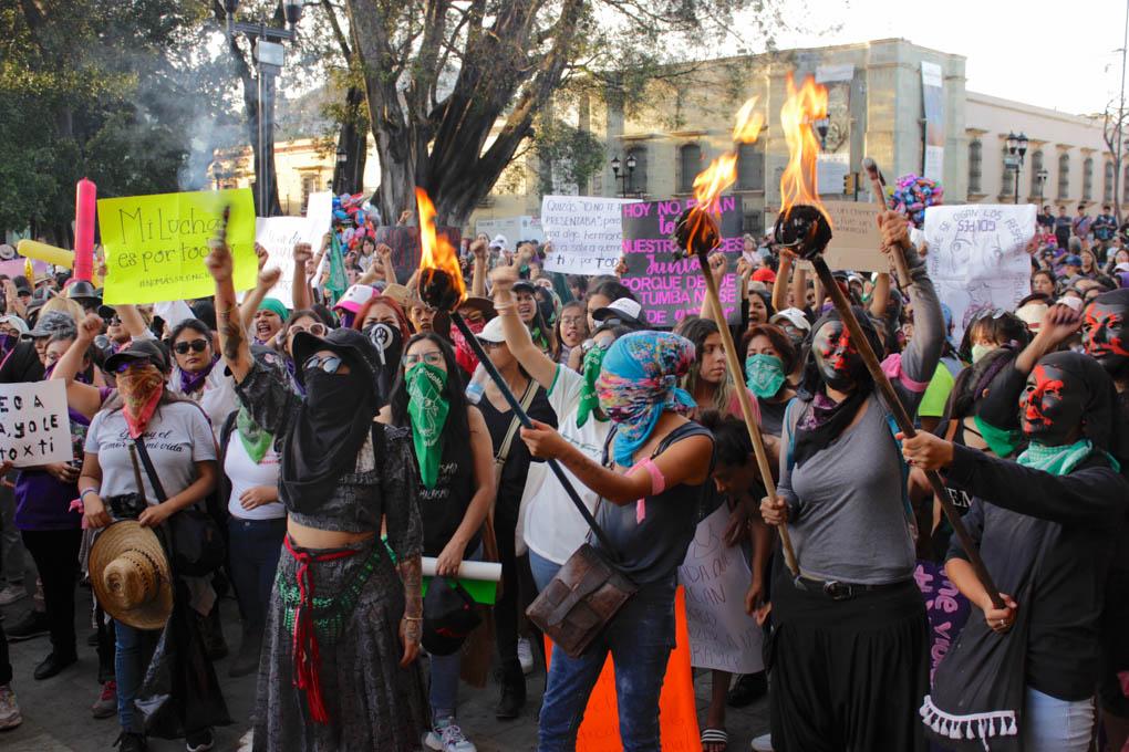 Crónica: El otro 8 de marzo en Oaxaca, el que no fue convocado por partidos ni organizaciones