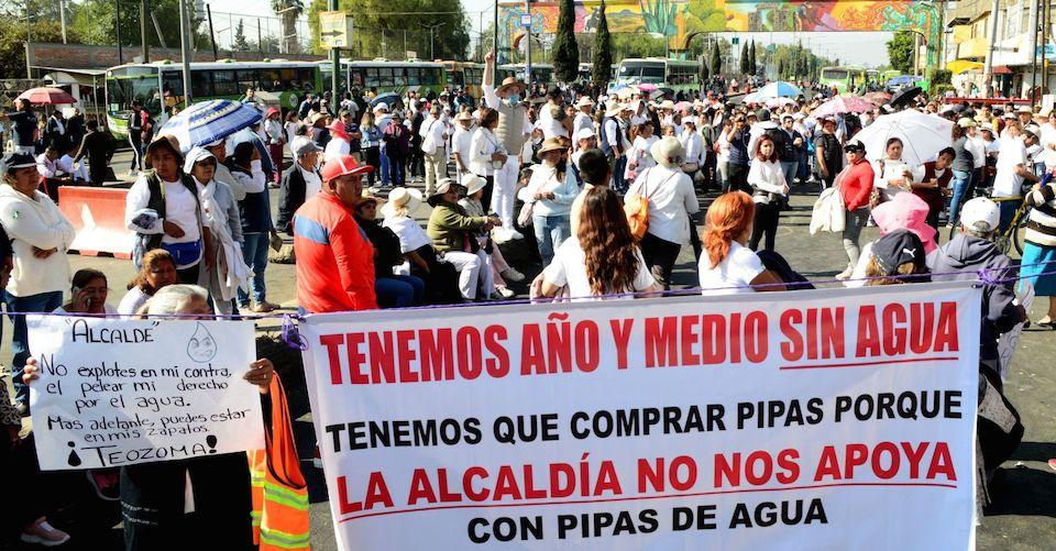 '¿Cómo enfrentamos el COVID-19 sin agua para lavarnos las manos?', denuncian pobladores de CDMX