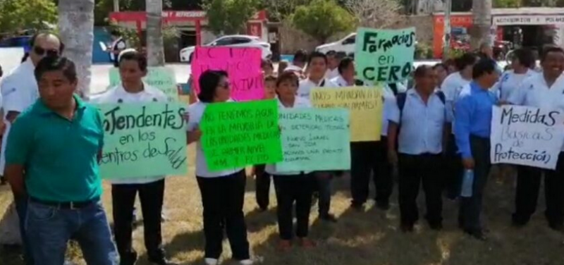 Faltan insumos para enfrentar el coronavirus: Médicos y enfermeros de FCP denuncian que no cuentan con material ni capacitación para atender contingencia sanitaria  (Quintana Roo)