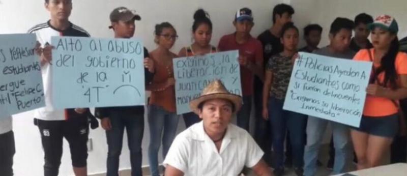 Estudiantes de la zona maya denuncian represión y abuso de policías municipales y estatales por órdenes de Otoniel Segovia en Chetumal