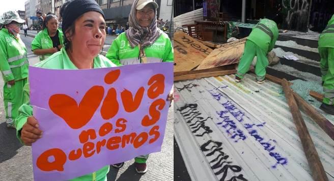 """Trabajadora de limpia de CDMX alza la voz: """"Prefiero barrer a ver más muertas"""""""